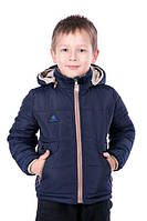 Двухсторонняя курточка для мальчика Малыш темно синий, размер 26, 28, 30