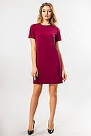 Прямое платье бордового цвета