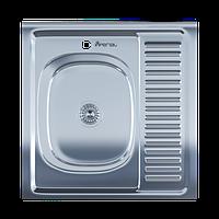 Мойка для кухни накладная 6060L 0.6 мм Polish