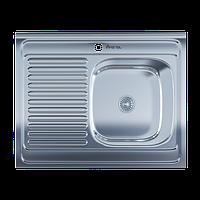 Мойка для кухни накладная 6080R Polish 0.6 мм