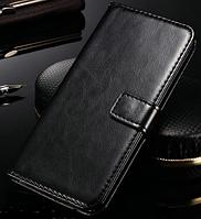 Кожаный чехол-книжка для Asus Zenfone 5 черный