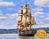 Картины по номерам 40×50 см. Babylon Premium Вооружённое судно Его Величества «Баунти», фото 1