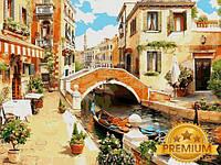 Картины по номерам 40×50 см. Babylon Premium Венецианский мостик, фото 1