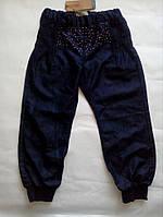 Летние джинсы - бананы со стразами для девочки 6 лет,  размер 116 ТМ Name it 13103427