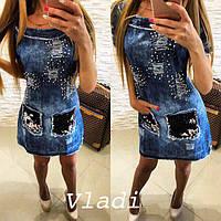 Стильное и красивое джинсовое платье женское