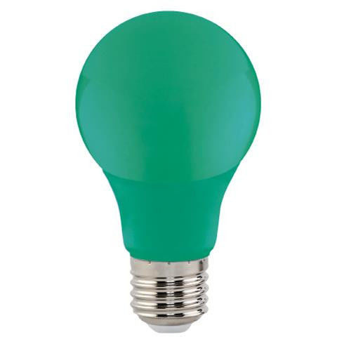 Светодиодная лампа зеленая SL-03G 3W E27 A60 220V (GREEN) Код.59212
