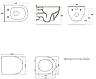 OLIVA унитаз 57,5*37*40см подвесной Rimless в комплекте с сидением Slim slow-closing, фото 3
