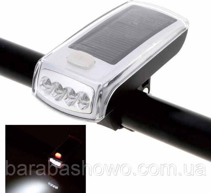 Велосипедный фонарь с солнечной батареей.