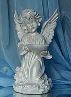 Ангел с чашей №2 (бел), 34 см.