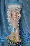 Фигура для сада Ангел с чашей 52 см. (Полистоун цветной)