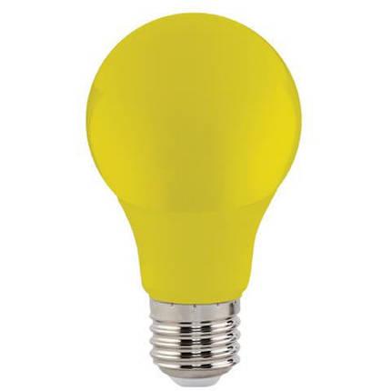 Светодиодная лампа желтая SL-03Y 3W E27 A60 220V (YELLOW) Код.59215, фото 2