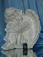 Ангел спит №16; 24 см. (белый) Полимер