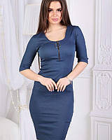 Платье джинс котон темно-синий