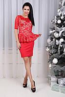 Красивое платье - баска от СтильноМодно