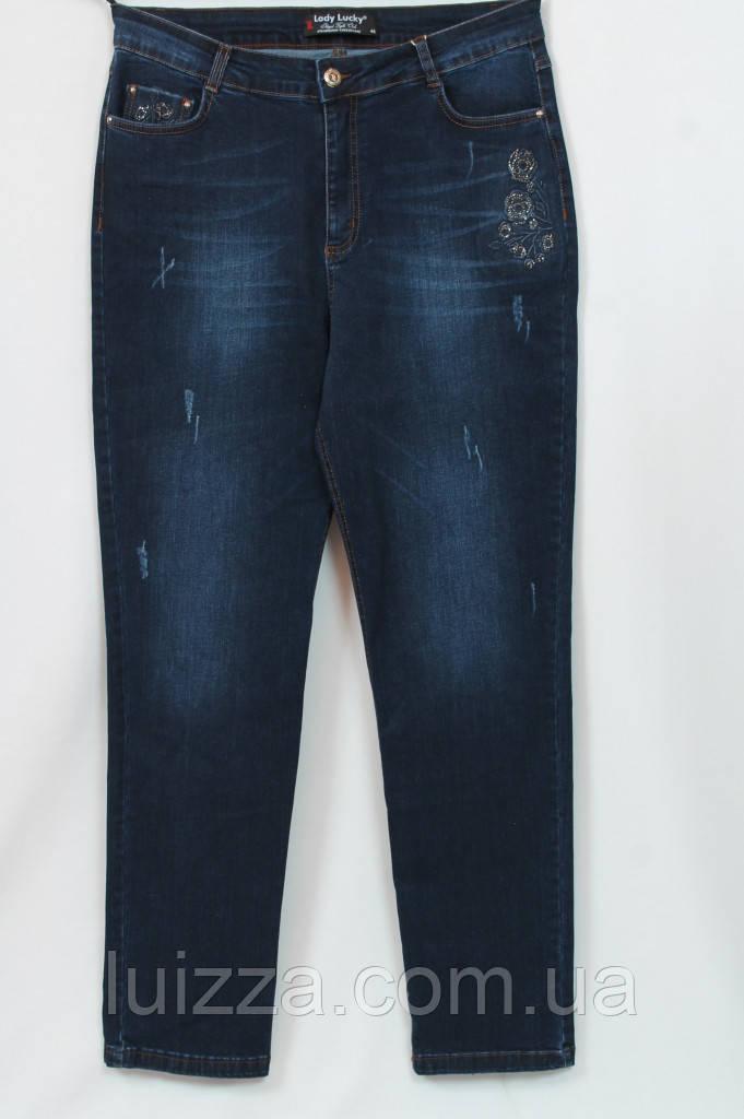 Турецкие джинсы с вышивкой, большой размер 54 - 62 р 58
