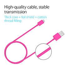 Кабель Micro USB Orico FDC-10 для зарядки и передачи данных (Розовый, 1м), фото 3