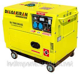 Электрогенератор дизельный 5 кВт DALGAKIRAN DJ7000DG-EC в кожухе