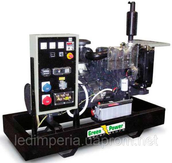 Электрогенератор дизельный GREEN POWER GP145I открытого типа