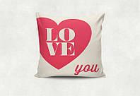 """Подарочная подушка """"Люблю тебя"""""""