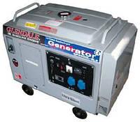 Бензогенератор 6 кВт Glendale GP6500L-SLE/3 в кожухе