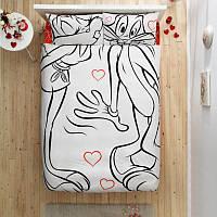 Комплект белья двуспальный евро перкаль Tac Bugs Bunny & Lora Ammour