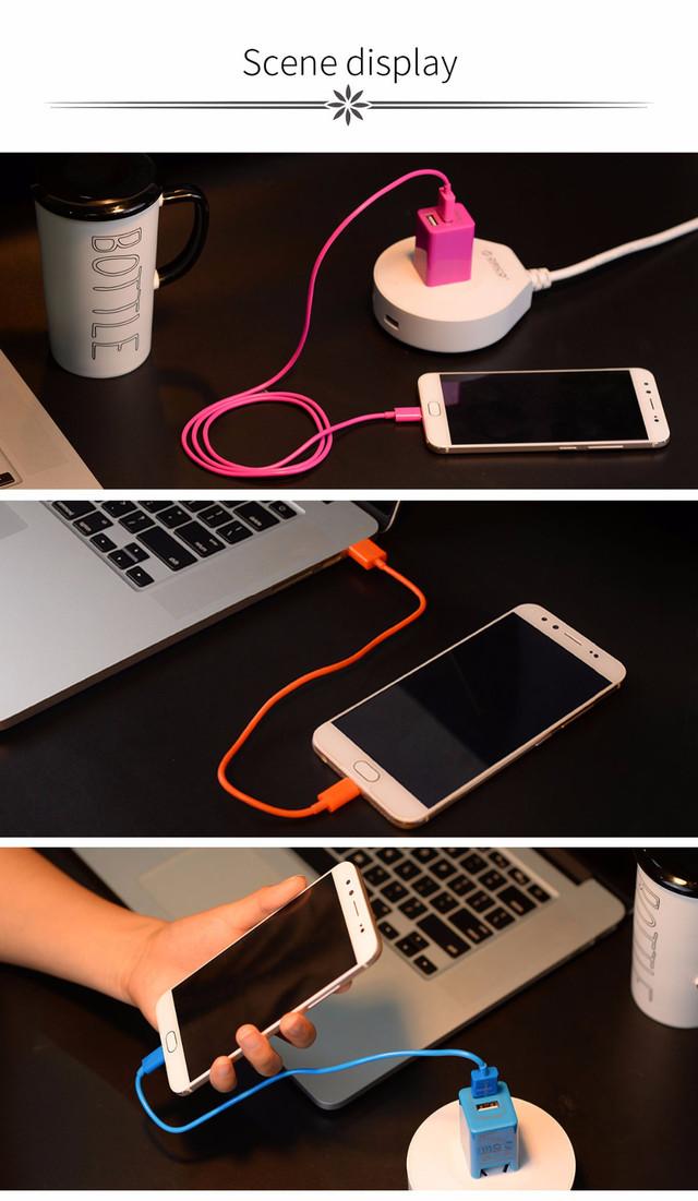 Кабель Micro USB Orico FDC-10 для зарядки и передачи данных (Розовый, 1м)