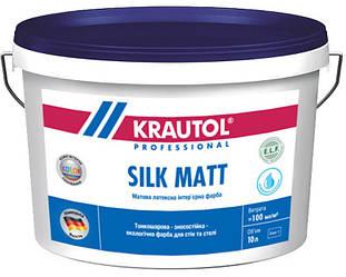 Краска латексная KRAUTOL SILK MATT интерьерная, B1-белая, 10л