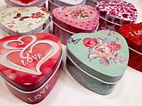 Шкатулки металлические в форме сердца для мелочей, фото 1