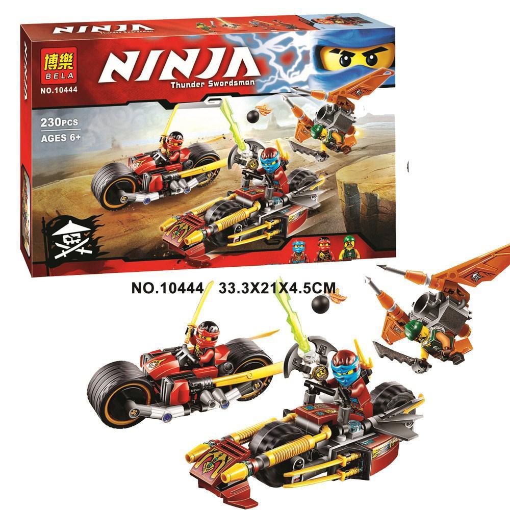 Конструктор Bela 10444 Ninja Ниндзя Ninjago Ниндзяго Погоня на ниндзяциклах
