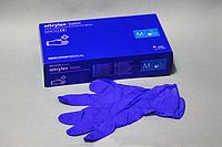 Перчатки нитриловые синие упаковка 100 шт длина 27 см