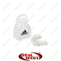 Капа боксерская двухсторонняя (двухчелюстная) Adidas BK050011 в футляре, прозрачная