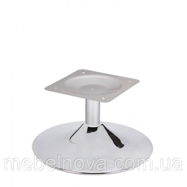 Поворотная база для кресла 600 мм металлическая хромированная