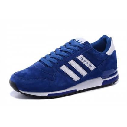 Adidas ZX-500 Blue White Suede