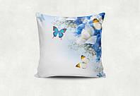 """Подарочная подушка """"Бабочки на голубом"""""""