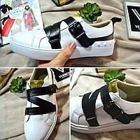 Туфли кожаные, повседневные, белый