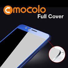 Защитное стекло Mocolo Full сover для Huawei P10 Lite синий