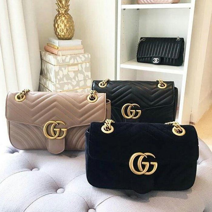 Женская кожаная сумка Gucci (Гуччи) GG Marmont matelassé   vkstore ... 76956d05273