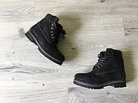 Черные теплые ботинки Timberland Original
