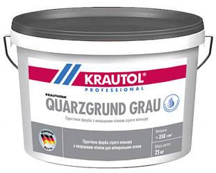Грунт с кварцевым песком KRAUTOL QUARZGRUND GRAU адгезионный 25кг