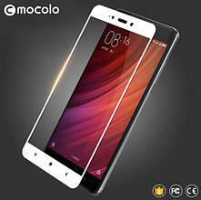 Защитное стекло Mocolo Full сover для Xiaomi Redmi Note 4 белый