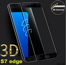 Защитное стекло Mocolo 3D 9H Electroplating на весь экран для Samsung Galaxy S7 Edge G935 черный