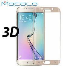 Защитное стекло Mocolo 3D 9H Silk на весь экран для Samsung Galaxy S6 Edge G925 золотистый