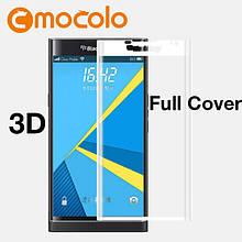 Защитное стекло Mocolo 3D 9H на весь экран для Blackberry Priv белый