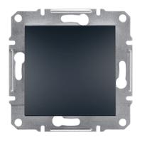Выключатель одноклавишный проходной (переключатель) Asfora Schneider Electric антрацит
