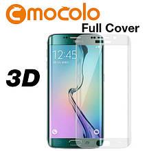 Защитное стекло Mocolo 3D 9H на весь экран для Samsung Galaxy S6 Edge G925 прозрачный
