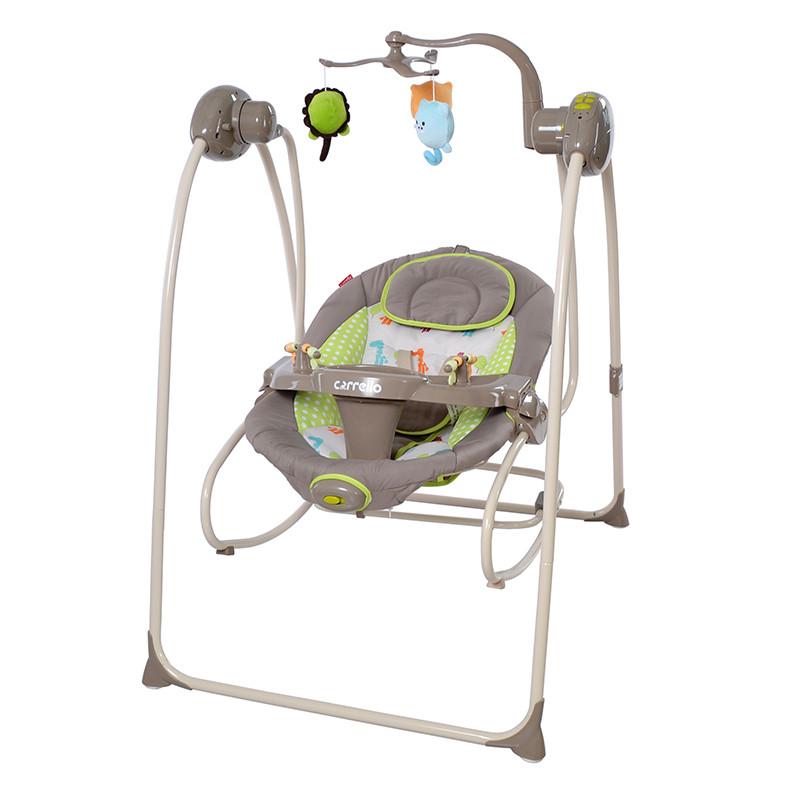 *Детское кресло - качалка (шезлонг, колыбель) Carrello Molle CRL-10301 Brown