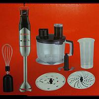 Блендер занурювальний SATORI SB-650-SB/650Вт / Нога з нержавіючої сталі /Змільчувач 1750 мл/ Мірний