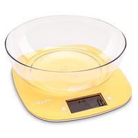 Ваги кухонні MAGIO MG-290 5 кг, електронні, пластикові, РК-дисплей, жовті.
