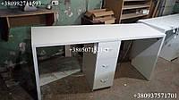 Стол для маникюра на два рабочих места, одлнотумбовый маникюрный стол. Модель V211 белый