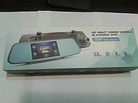 "Видеозеркало регистратор камера заднего вида 5"" HD-X10 5MP/угол-140/ сенсор"